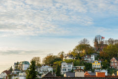 Touriste de Blankenese Hambourg Photos stock