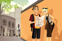 Touriste de couples illustration libre de droits