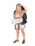 Touriste de randonneur de femme photo libre de droits