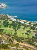 Touriste Elounda sur l'île de Crète photos stock