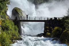 Touriste en Norvège Photographie stock libre de droits