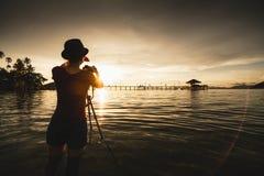 Touriste féminin Images libres de droits