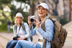 Touriste gai Photographie stock