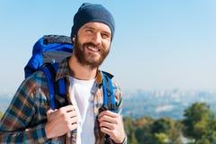 Touriste heureux Image libre de droits