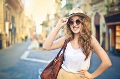 Touriste heureux images libres de droits