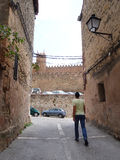 Touriste, Siguenza Photos stock