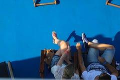 Touristen in Aegina-Insel - Griechenland Stockfotos