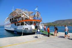 Touristen in Aegina-Insel - Griechenland Stockbild