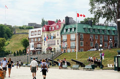 Touristen auf dem Terrasse Dufferin Lizenzfreie Stockfotos