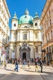 Touristen auf Graben-Straße, eine der berühmtesten Straßen von Wien, Österreich Stockbilder