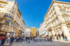 Touristen auf Graben-Straße, eine der berühmtesten Straßen von Wien, Österreich Stockfoto