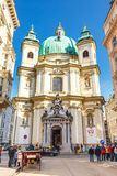 Touristen auf Graben-Straße, eine der berühmtesten Straßen von Wien, Österreich Lizenzfreie Stockfotografie