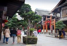 Touristen besuchen den Anblick von China lizenzfreie stockbilder