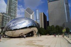 Touristen an der Chicago-Bohne Lizenzfreies Stockfoto