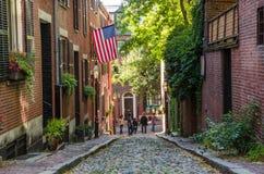 Touristen in der Eichel-Straße, Boston Stockfotografie