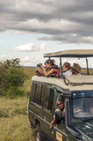 Touristen, die Fotos nehmen Stockfotos