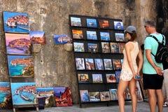 Touristen in Dubrovnik Lizenzfreies Stockfoto