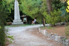 Touristen genießen in Athen, Griechenland stockbild