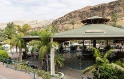 Touristen an heißen Quellen Hamat Gader Lizenzfreies Stockbild
