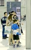 Touristen im britischen Museum Lizenzfreie Stockfotos