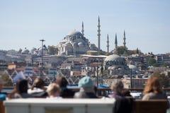 Touristen in Istanbul, die Türkei Stockbilder