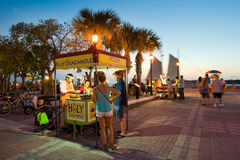 Touristen in Key West stockfotos