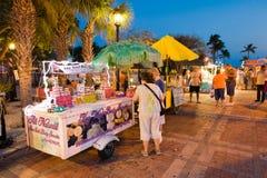 Touristen in Key West stockbilder