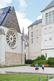 Touristen nahe Museum der schönen Kunst verärgert herein, Frankreich lizenzfreies stockbild