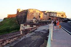Touristen in San Juan Lizenzfreie Stockfotos