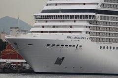20.000 Touristen schiffen von den transatlantischen Schiffen in Rio de Jan aus Stockbild