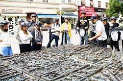 Touristen in Segway Stockbild