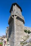 Touristen sehen den Anblick im Hof der Festung Lizenzfreie Stockfotos