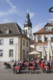 Touristen in Speyer, Deutschland Stockfotos