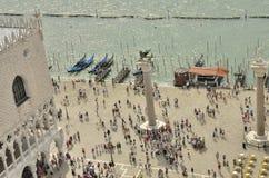 Touristen in Venedig Stockbild