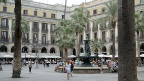 Touristenattraktion in Barcelona stock footage