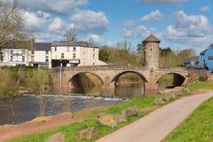 Touristenattraktion Monmouth-Brücke Wales britisches historisches Ypsilon-Tal Lizenzfreie Stockfotos