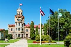 Sigulda Gemeinderat im Schloss des 19. Jahrhunderts, Lettland lizenzfreie stockfotografie