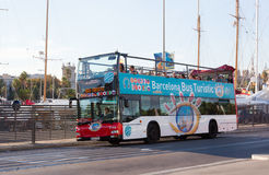 Touristenbus in Barcelona Stockbild