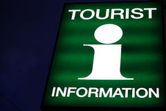 Touristeninformation Stockfoto