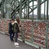 Touristes à Cologne Images libres de droits