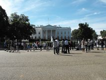 Touristes à la Maison Blanche  Image stock