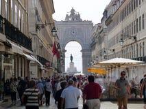 Touristes à Lisbonne Photographie stock