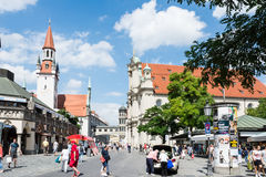 Touristes à Munich Image libre de droits