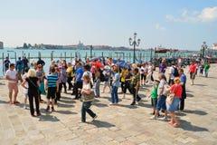 Touristes à Venise Images stock