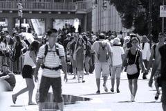 Touristes à Venise, Italie images stock