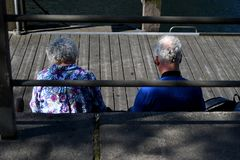 Touristes aînés Images libres de droits