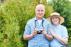 Touristes aînés des vacances Images libres de droits