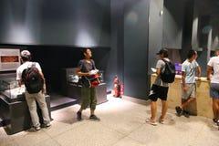 Touristes au musée de Louxor chez l'Egypte Image stock