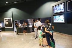 Touristes au musée de Louxor chez l'Egypte Images stock