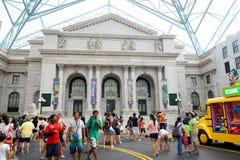 Touristes aux studios universels Singapour Photos stock